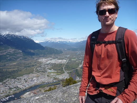 At the top over looking Squamish