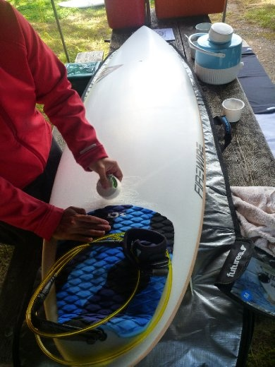 Big boy, D's new board! All shiny and new