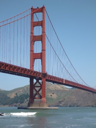 East side Golden Gate bridge