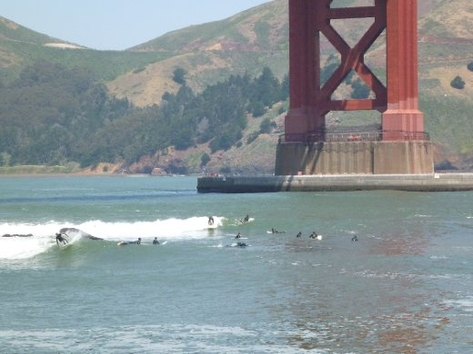 Fort Point, not exactly pumping...busy though