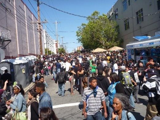 Massive street party