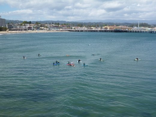 Surf school at Cowells. Great for beginners.