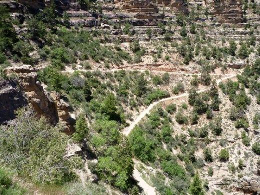 Bright Angel trail switchbacks