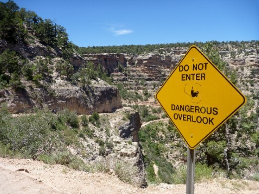 Yeah, you don't want to fall over the edge here...