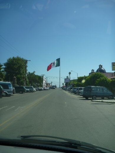 Massive Mexican flag...one of many