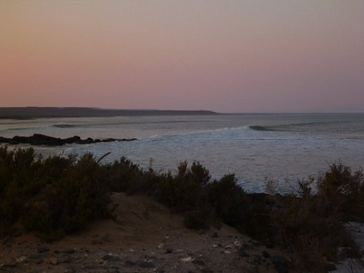 Long lines at dusk