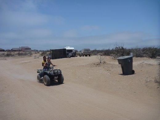 All the locals and expat Americans rip around on these ATVs. Much easier than a car.