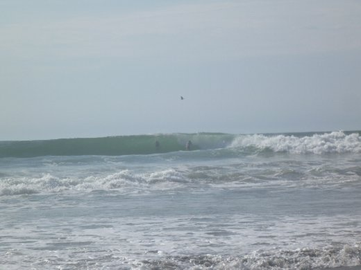 getting ready to avoid the tube...ripping.