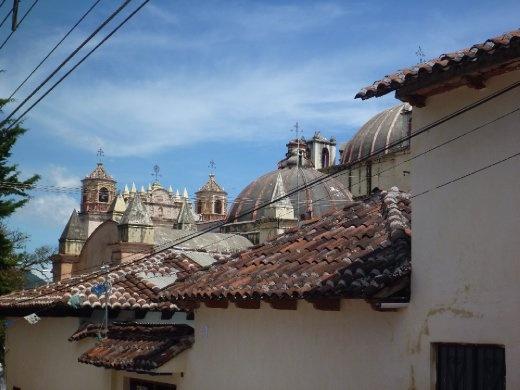 Roof top street scene