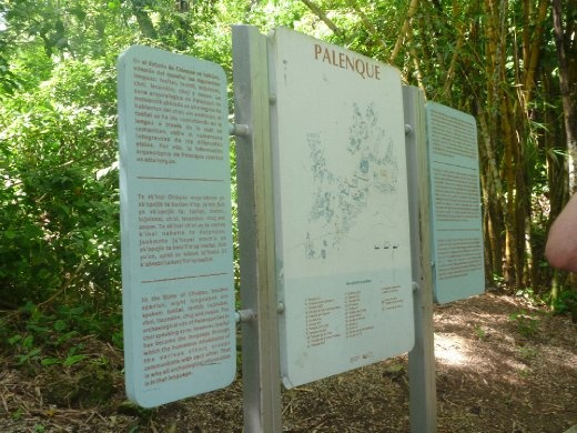 Palenque map and history