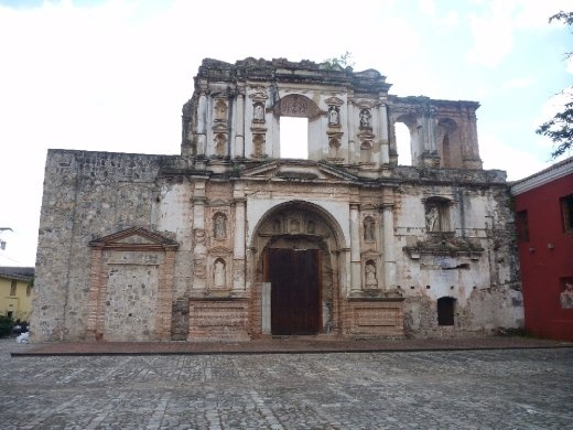 what is leftover of one of the many churches destroyed by earthquakes