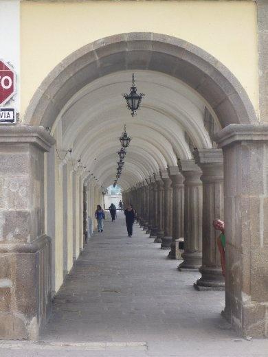 corridor at the Palacio de los Capitanes Generales...begun in 1558, was the government centre for all of central America until 1773