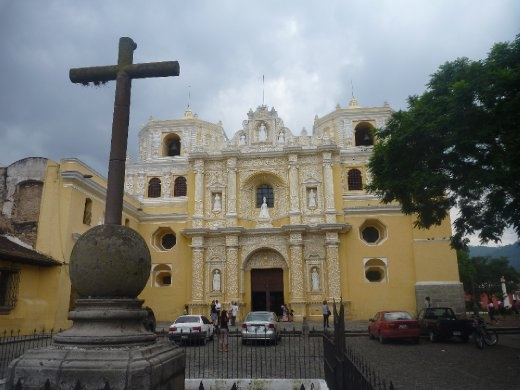 La Merced with a really old looking crucifix out the front