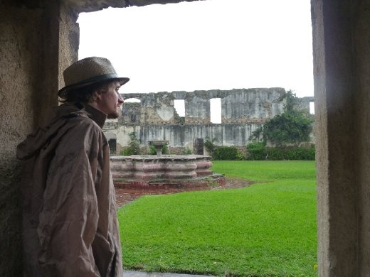 looking out at the Colegio de San Jeronimo