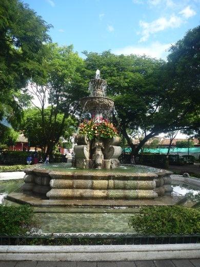 Parque Central fountain