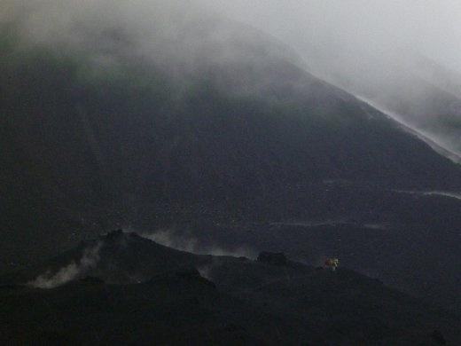 steam and lava rock