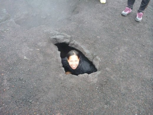 D in a steamy hole