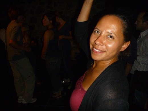 night out, having a dance...last night in Antigua