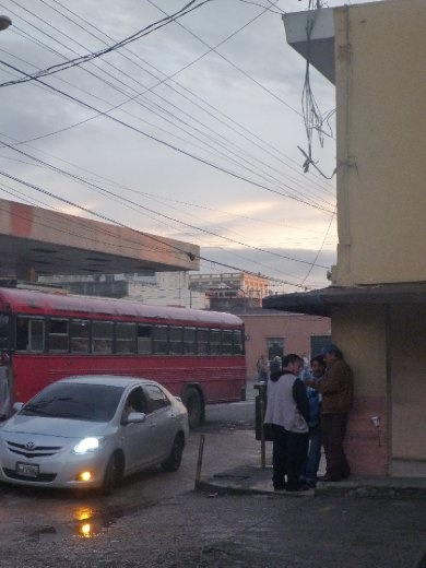 view from the bus station in Guatemala city