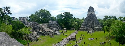 Panorama of Grand Plaza, the core of Tikal