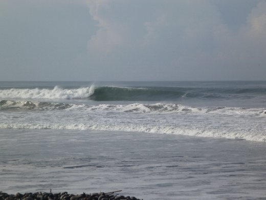 La Bocana. This is the wave that the locals were hassling me at.