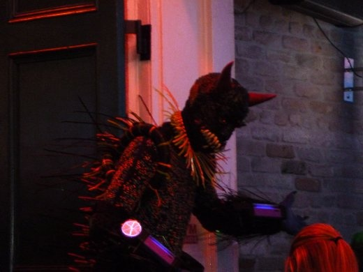 Random guy in a space/ monster suit at one of the clubs