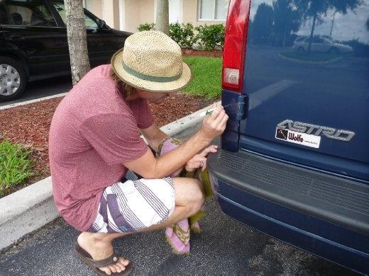 Cookie detailing the van