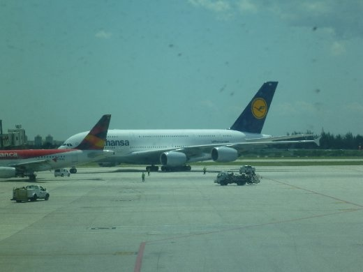 Our ride from Miami to Frankfurt, Germany - the Lufthansa A380