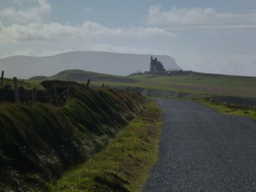 Country road looking at Benbulben mountain...that's where W.B. Yeats is buried for those who appreciate Irish poetry