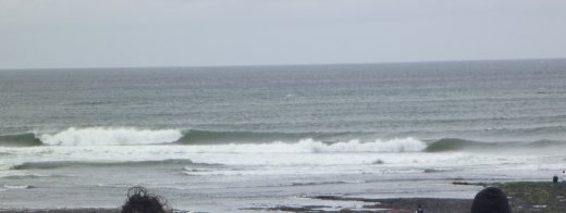 decent but cold and windy surf