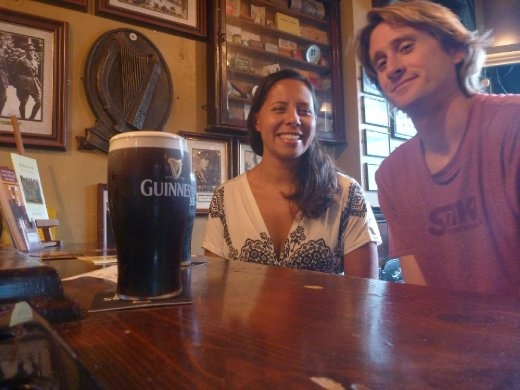 pints of Guinness for D's birthday at the Brazen Head...said to be the oldest pub in Ireland and likely the oldest pub in Europe...so appropriate