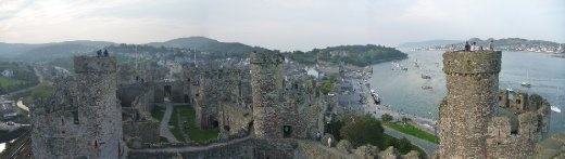 Conwy castle tower view