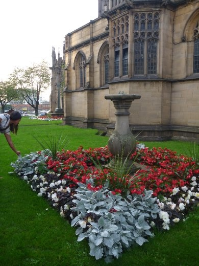Manchester Cathedral garden