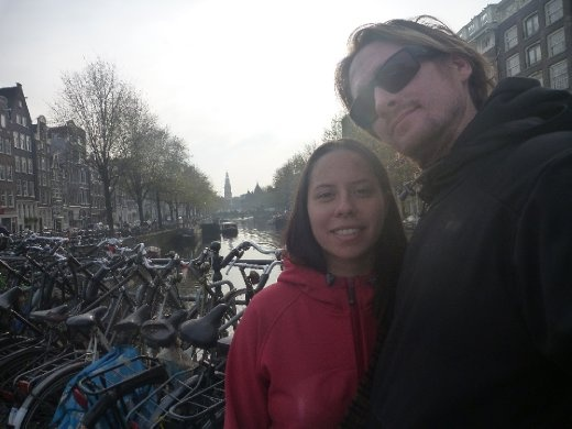 Us, loving  Amsterdam
