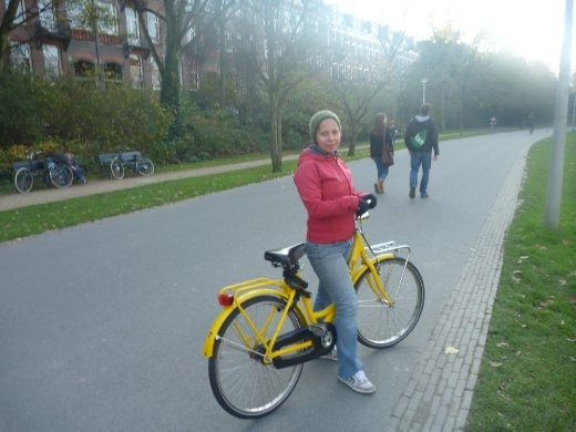 Danielle with bicycle