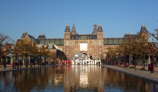 I am sterdam...in front of the National Museum