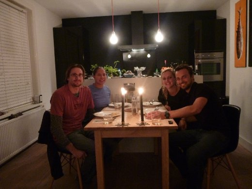 Dinner with Tom and Annabelle! Beautiful couple with such a beautiful home to share!