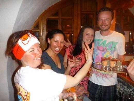 crazy Cat, D, Dani, and Charles...havin a laugh