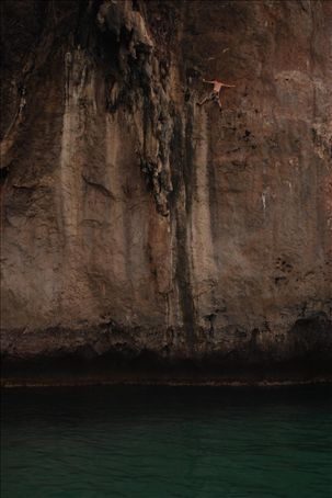 Deep Water Dave (Dave on deep water soloing trip in Andaman Sea)
