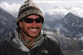 Brian on the summit of Goyko Ri in front of Mt. Everest and Lhotse : by brian-camille, Views[497]