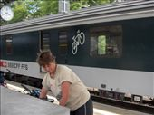 Train with carraige for bicycles: by brinks, Views[128]
