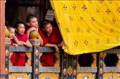 Watching Monks - Monks as young as 5 enjoy the festival as it offers variation to their daily life of study, meditation and prayer: by brooklana, Views[257]