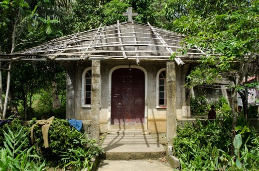 A mini chapel situated in a village in Catanduanes. Religion plays a big part in the life of people in the island. Every village has its own chapel or church no matter how big or small it is.