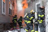 As the flames grow, firefighters work hard to tame, and put the blaze to rest.: by bryantscannell, Views[526]