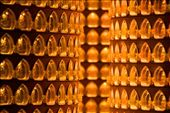 Intricate image cones flank the main altar of the Confucius Temple in Taipei, Taiwan.  Image cones are comprised of hundreds of miniature Buddha statues with small lights, each of which is paid for on a yearly basis by a worshipper as an offering to deity.: by bstew, Views[180]