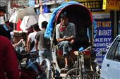 One of the many trishaw touts in Kathmandu: by buhoo, Views[304]