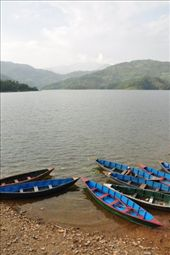 Boats for rent at the shore of Begnas Tal: by buhoo, Views[228]