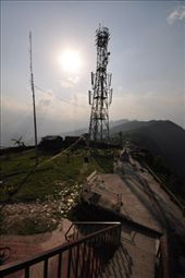 Military outpost guarding this comms tower at the top of Sarangkot: by buhoo, Views[570]