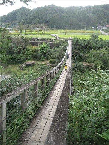 Suspension Bridge at Harajiri falls