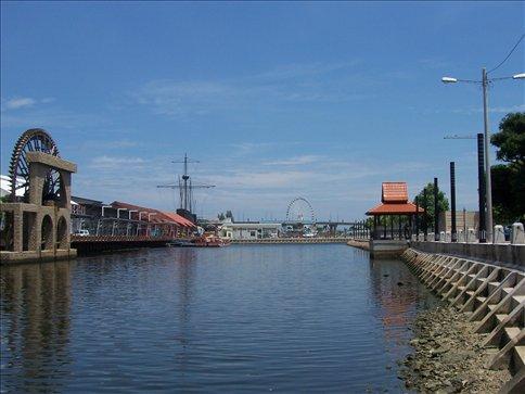 Towards the mouth of Melaka river